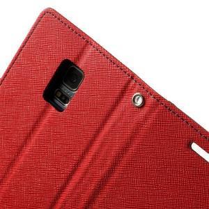 Diary PU kožené puzdro pre Samsung Galaxy S5 mini - červené - 6