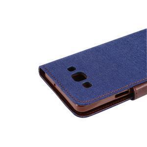 Jeans peňaženkové puzdro na Samsung Galaxy note 3 - tmavo modré - 6