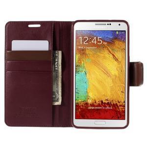 Setsnow PU kožené puzdro na Samsung Galaxy Note 3 - vínové - 6