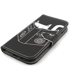 Peňaženkové puzdro pre mobil Samsung Galaxy S3 - mačička s knihou - 6