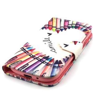 Peňaženkové puzdro na mobil Samsung Galaxy S3 - srdce z voskovek - 6