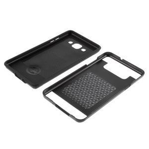 Hybridné gélové/plastové puzdro pre Samsung Galaxy A5 - čierné - 6