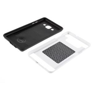 Hybridné gélové/plastové puzdro pre Samsung Galaxy A5 - biele - 6