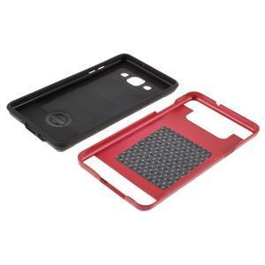 Hybridné gélové/plastové puzdro pre Samsung Galaxy A5 - červené - 6