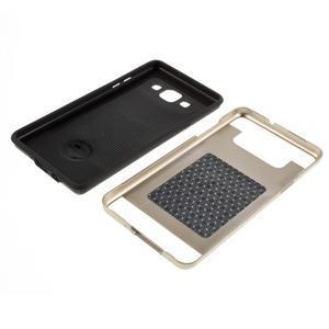 Hybridné gélové/plastové puzdro pre Samsung Galaxy A5 - zlaté - 6