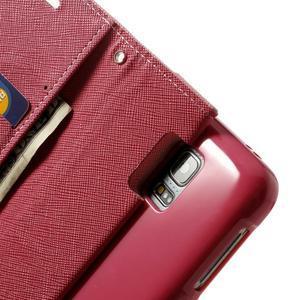 Diary PU kožené pouzdro na Samsung Galaxy S5 mini - růžové - 6