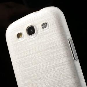 Brush gélový kryt na Samsung Galaxy S III / Galaxy S3 - biely - 6