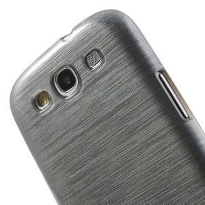 Brush gélový kryt na Samsung Galaxy S III / Galaxy S3 - šedý - 6