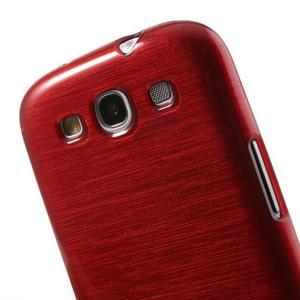 Brush gélový kryt pre Samsung Galaxy S III / Galaxy S3 - červený - 6
