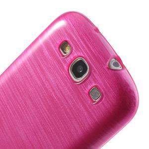 Brush gélový kryt na Samsung Galaxy S III / Galaxy S3 - rose - 6
