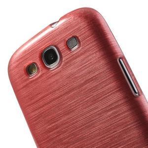 Brush gélový kryt pre Samsung Galaxy S III / Galaxy S3 - ružový - 6