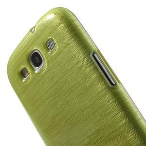 Brush gélový kryt pre Samsung Galaxy S III / Galaxy S3 - zelený - 6
