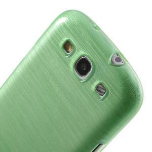 Brush gélový kryt na Samsung Galaxy S III / Galaxy S3 - zelený - 6