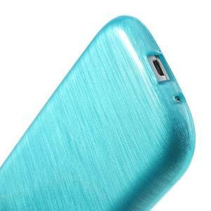 Brush gélový kryt na Samsung Galaxy S III / Galaxy S3 - modrý - 6