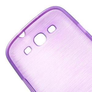 Brush gélový kryt na Samsung Galaxy S III / Galaxy S3 - fialový - 6