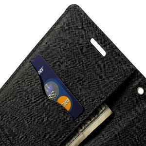 Diary PU kožené pouzdro na Samsung Galaxy S5 mini - černé - 6