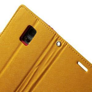 Diary PU kožené pouzdro na Samsung Galaxy S5 mini - žlutooranžové - 6