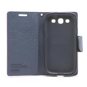 Mr. Fancy koženkové puzdro na Samsung Galaxy S3 - rose - 6