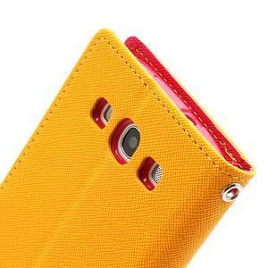 Mr. Fancy koženkové puzdro na Samsung Galaxy S3 - žlté - 6