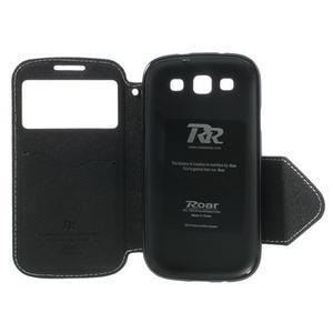 Peňaženkové puzdro s okienkom pre Samsung Galaxy S3 / S III - biele - 6