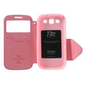 Peňaženkové puzdro s okienkom pre Samsung Galaxy S3 / S III - rose - 6