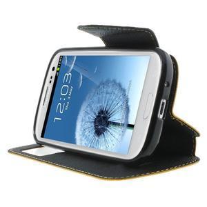 Peňaženkové puzdro s okienkom pre Samsung Galaxy S3 / S III - žlté - 6