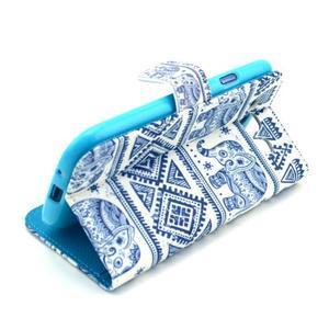 Peňaženkové puzdro pre mobil Samsung Galaxy S III - slony - 6