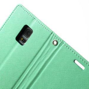 Diary PU kožené puzdro pre Samsung Galaxy S5 mini - azúrové - 6