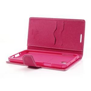 Goosp PU kožené puzdro na Samsung Galaxy Note 3 - růžové - 6