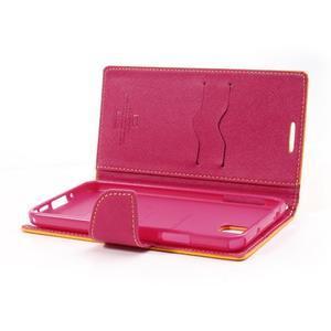 Goosp PU kožené puzdro na Samsung Galaxy Note 3 - žlté - 6