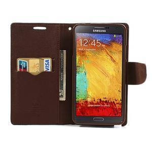 Goosp PU kožené puzdro na Samsung Galaxy Note 3 - čierné/hnedé - 6