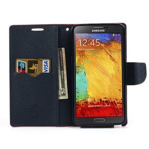 Goosp PU kožené puzdro pre Samsung Galaxy Note 3 - červené - 6