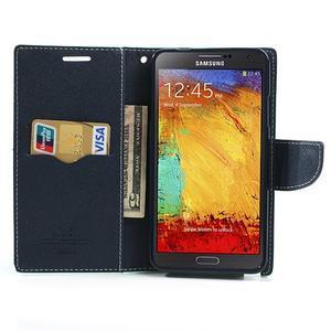 Goosp PU kožené puzdro na Samsung Galaxy Note 3 - azurové - 6