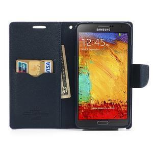 Goosp PU kožené puzdro pre Samsung Galaxy Note 3 - fialové - 6