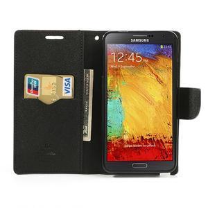 Goosp PU kožené puzdro pre Samsung Galaxy Note 3 - hnedé - 6