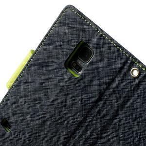 Diary PU kožené puzdro pre Samsung Galaxy S5 mini - tmavomodré - 6