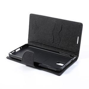 Goosp PU kožené puzdro pre Samsung Galaxy Note 3 - čierné/hnedé - 6