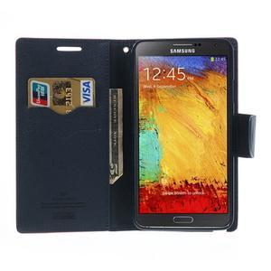 Goosp PU kožené puzdro pre Samsung Galaxy Note 3 - rose - 6