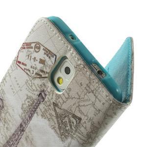 Peňaženkové puzdro na mobil Samsung Galaxy Note 3 - Eiffelova veža - 6