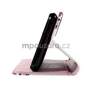 Koženkové pouzdro na mobil Sony Xperia E4 - květy - 6