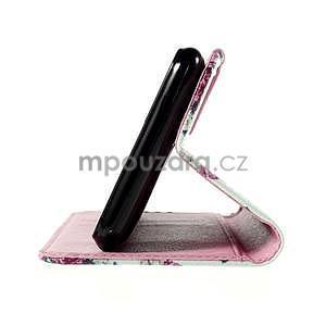 Koženkové puzdro pre mobil Sony Xperia E4 - ruže - 6