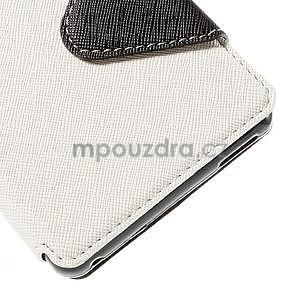 Peněženkové pouzdro s okýnkem pro Sony Xperia M4 Aqua - bílé - 6