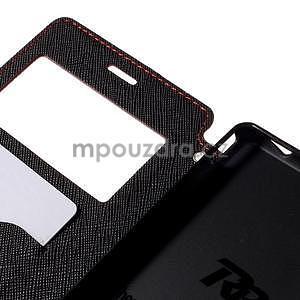 Peňaženkové puzdro s okienkom pre Sony Xperia M4 Aqua - červené - 6