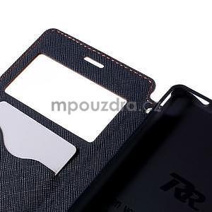 Peňaženkové puzdro s okienkom pre Sony Xperia M4 Aqua - oranžové - 6
