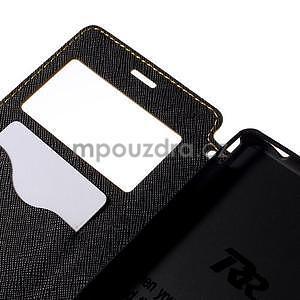 Peňaženkové puzdro s okienkom pre Sony Xperia M4 Aqua - žlté - 6