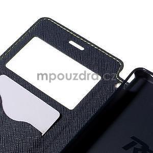 Peněženkové pouzdro s okýnkem pro Sony Xperia M4 Aqua - zelené - 6