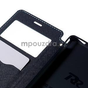Peněženkové pouzdro s okýnkem pro Sony Xperia M4 Aqua - světlemodré - 6