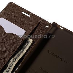 Ochranné puzdro pre Sony Xperia M4 Aqua - čierne/hnedé - 6