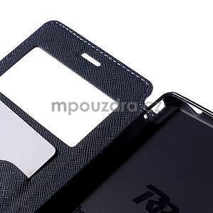 Peňaženkové puzdro s okienkom pre Sony Xperia M4 Aqua - fialové - 6