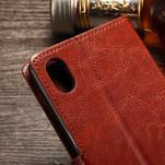 Koženkové pouzdro Sony Xperia M4 Aqua - hnědé - 6/7